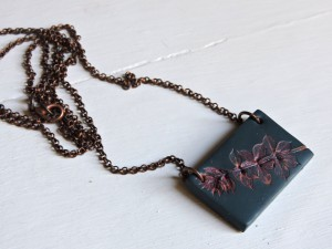 Blue Marsala Rose Choker Pendant by Adreamofleaves on Etsy